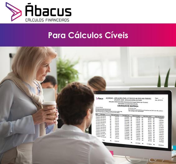 Ábacus 6.0 para Cálculos das Ações Cíveis, desde a Inicial à Sentença! Incluindo Revisão de Contrato, FGTS, Revisão conta de LUZ, SFH e outros. Instalação Imediata!