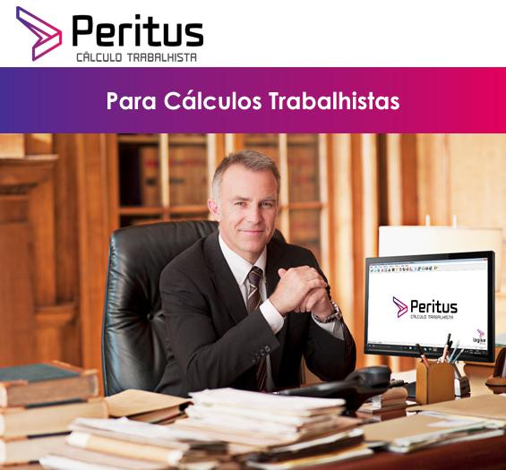 PERITUS 6.0 para cálculos trabalhistas, desde Acordos a Liquidez de Sentenças! Adequado a reforma trabalhista. Instalação Imediata.
